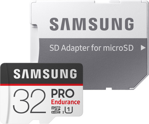Samsung microSDHC PRO Endurance 32GB 100 MB/s + SD Adapter Main Image