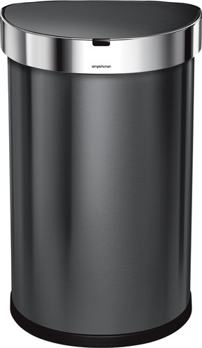Simplehuman Semi-round Sensor LinerPocket 45 Liter Anthracite Main Image