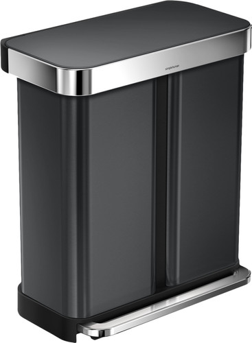 Simplehuman Rectangular Liner Pocket GFT 24+34L Anthracite Main Image