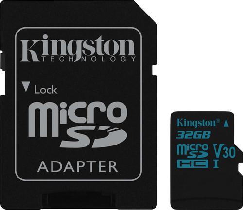 Kingston microSDHC Canvas Go! 32GB 90 MB/s + SD Adapter Main Image