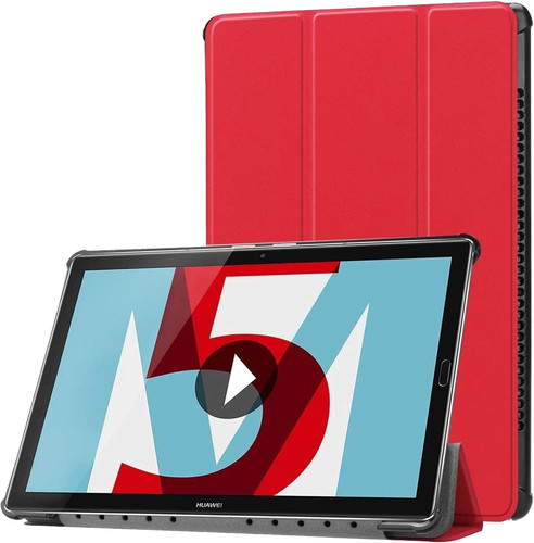 Just in Case Tri-Fold Huawei MediaPad M5 10/10 Pro Book Case Rood Main Image