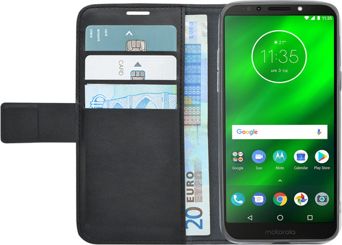 Azuri Wallet Magnet Motorola Moto G6 Play Book Case Black Main Image