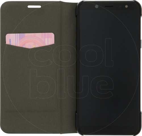 Azuri Booklet Ultra Thin Samsung Galaxy A6 (2018) Book Case Zwart Main Image