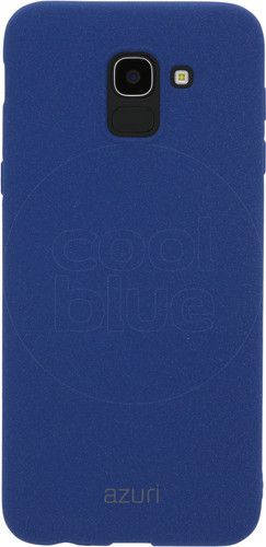 Azuri Flexible Sand Samsung Galaxy J6 (2018) Back Cover Blue Main Image