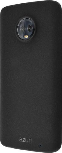Azuri Flexible Sand Motorola Moto G6 Plus Back Cover Zwart Main Image