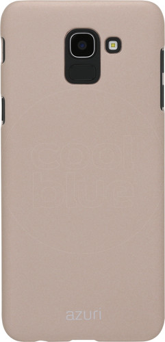 Azuri Metallic Soft Touch Samsung Galaxy J6 (2018) Back Cover Goud Main Image