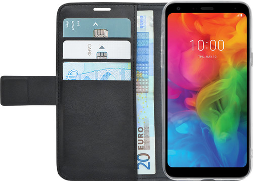 Azuri Wallet Magneet LG Q7 Book Case Zwart Main Image