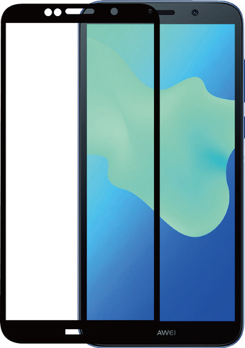Azuri Huawei Y5 (2018) Screen Protector Tempered Glass Black Main Image
