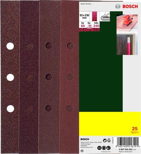 Bosch Sandpaper 93x230mm K60, 80, 120, 240 (25x) Main Image