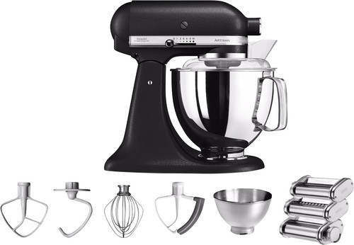 KitchenAid Artisan Mixer 5KSM175PS Onyx Black + Pasta Rolling Set Main Image