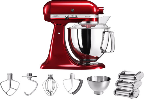 KitchenAid Artisan 5KSM175PS Appelrood + Pastarollerset Main Image