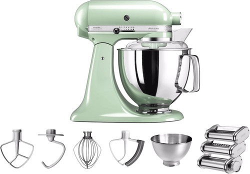 KitchenAid Artisan Mixer 5KSM175PS Pistachio + Pastarola set Main Image