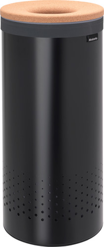 Brabantia Laundry box 35 liters with cork lid - Matt Black Main Image