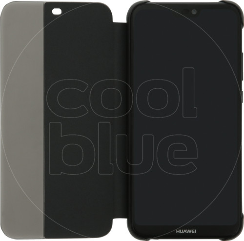 Huawei P20 Lite Flip Cover Book Case Zwart Main Image
