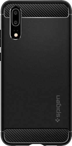 Spigen Rugged Amor Huawei P20 Back Cover Black Main Image