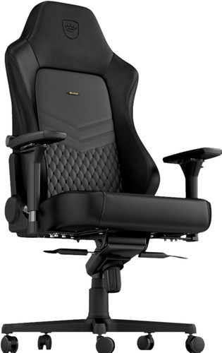 noblechairs HERO Genuine Leather Gaming Chair Black Main Image