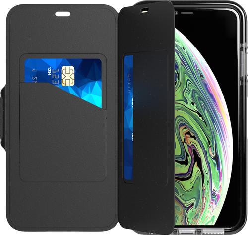 Tech21 Evo Wallet Apple iPhone Xs Max Book Case Zwart Main Image