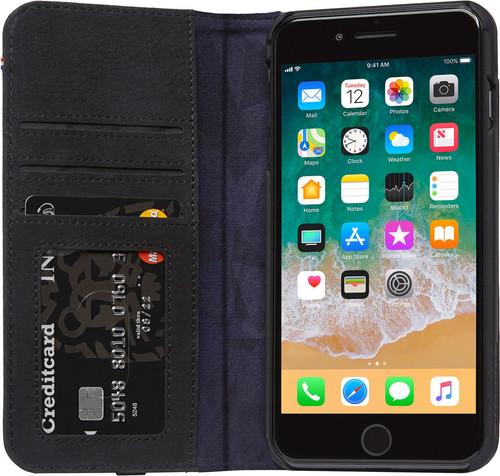 Decoded Leather Wallet Case iPhone 8 Plus/ 7Plus Zwart Main Image