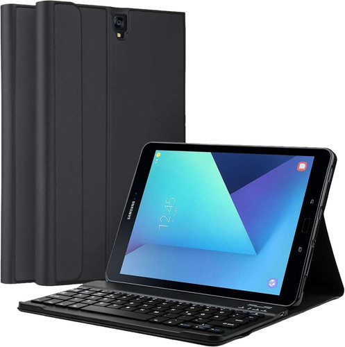 Just in Case Premium Samsung Galaxy Tab S3 Book Case Black QWERTY Main Image