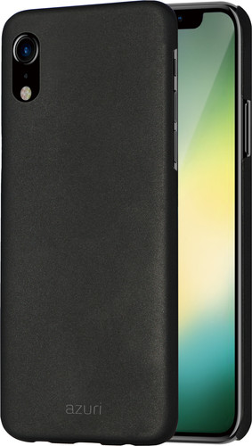Azuri Metallic Soft Touch Apple iPhone Xr Back Cover Zwart Main Image