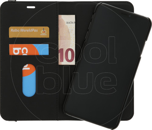 Azuri Luxe 2-in-1 Wallet Apple iPhone Xs Max Book Case Zwart Main Image