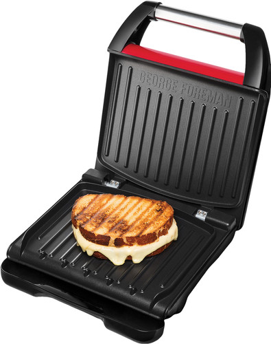 George Foreman Steel Grill Family Red Main Image
