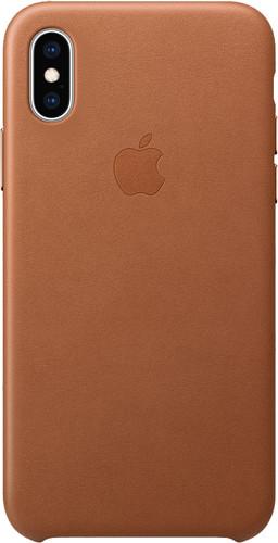 Apple iPhone Xs Leather Back Cover Zadelbruin Main Image