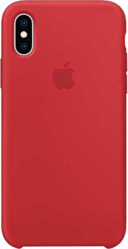 Apple iPhone Xs Silicone Back Cover RED Main Image