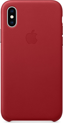 Apple iPhone Xs Max Leather Back Cover RED Main Image
