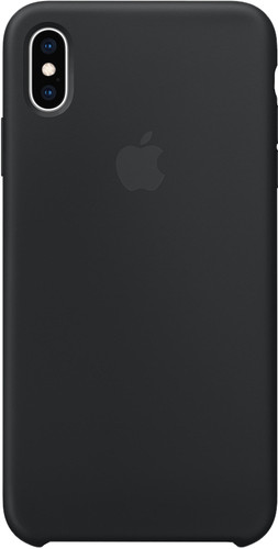Apple iPhone Xs Max Silicone Back Cover Zwart Main Image