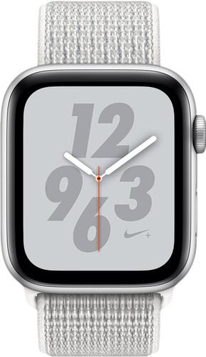 Apple Watch Series 4 44mm Nike+ Zilver Aluminium/Nylon Sportband Main Image