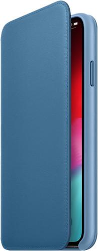 Apple iPhone Xs Max Leather Folio Book Cape Cod Blue Main Image