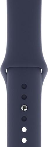 Apple Watch 44mm Silicone Watch Strap Sport Midnight Blue Main Image