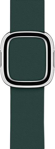 Apple Watch 40mm Modern Leren Horlogeband Bosgroen - Small Main Image