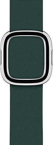 Apple Watch 40mm Modern Leather Watch Strap Forest Green - Medium Main Image