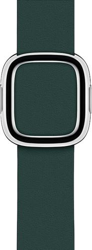 Apple Watch 40mm Modern Leren Horlogeband Bosgroen - Large Main Image