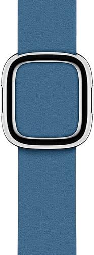 Apple Watch 40mm Modern Leren Horlogeband Cape Cod Blauw - Small Main Image