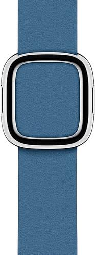 Apple Watch 40mm Modern Leather Watch Strap Cape Cod Blue - Medium Main Image