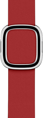 Apple Watch 40mm Modern Leather Watch Strap RED - Small Main Image