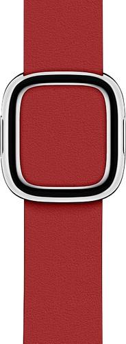Apple Watch 38/40 mm Modern Leren Horlogeband RED - Small Main Image