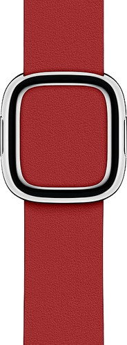 Apple Watch 40mm Modern Leather Watch Strap RED - Medium Main Image