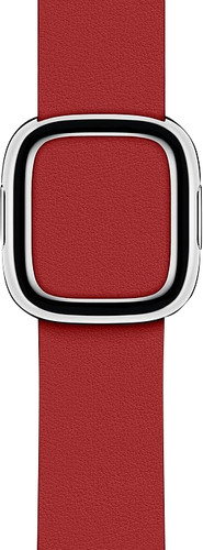 Apple Watch 40mm Modern Leather Watch Strap RED - Large Main Image