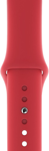 Apple Watch 44mm Silicone Watch Strap Sport RED Main Image