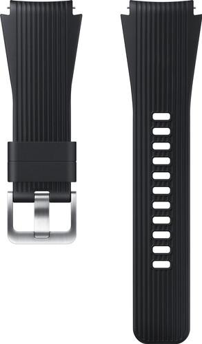 Samsung Galaxy Watch 46mm/Gear S3 Siliconen Horlogeband Zwart Main Image