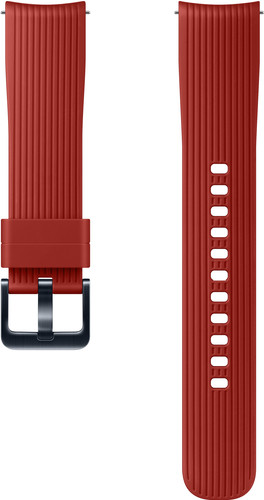 Samsung Galaxy Watch 42mm/Gear Sport Siliconen Horlogeband Rood Main Image