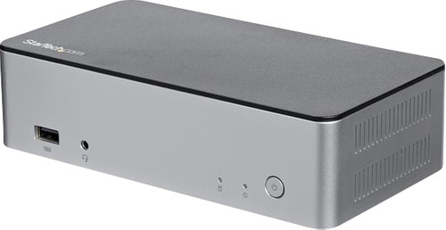 """StarTech 4K dual-monitor USB-C docking station met 60W PD en 2.5"""" SATA bay Main Image"""