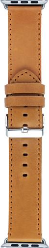 DBramante1928 Copenhagen Apple Watch 42mm Leather Watchband Light Brown / Silver Main Image