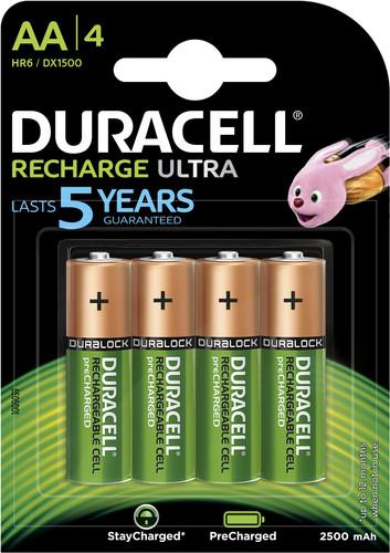 Duracell Recharge Ultra AA-batterijen 4 stuks Main Image