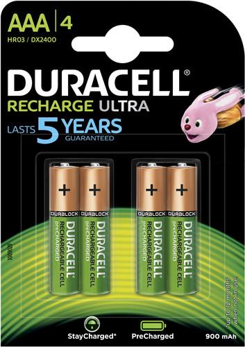 Duracell Recharge Ultra AAA-batterijen 4 stuks Main Image