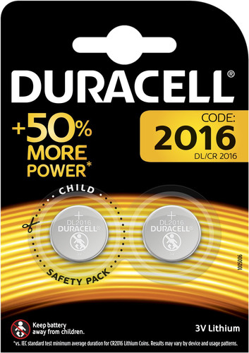 Duracell Specialty 2016 Lithium button cell battery 3V 2 units Main Image